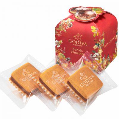 ゴディバ:オータム コレクション サブレショコラ マロン 3個入